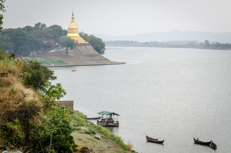 This is the view over the Irrawaddy River from our lunch stop.