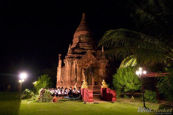 Stupa in Thazin Garden Hotel, Bagan
