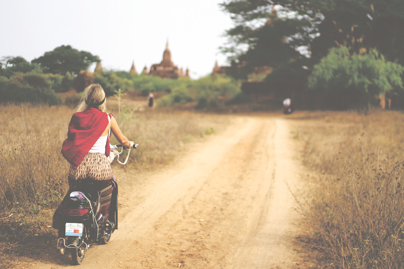 You can rent electric bikes for a day to ride around the pagodas. April 2015