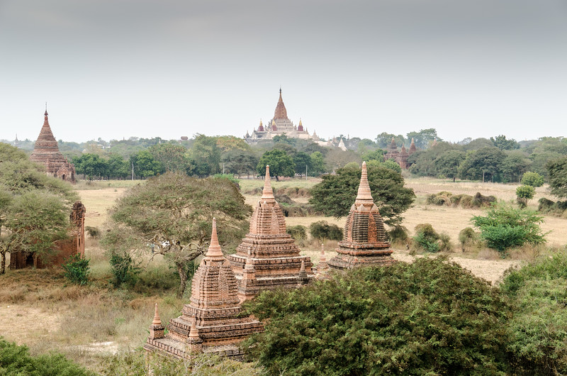Our first look across the vast plain of Bagan.