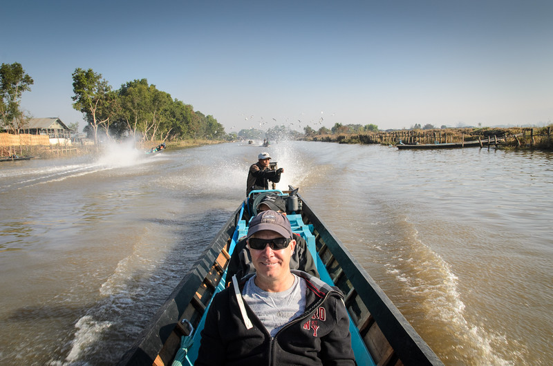 And we're off!  Headed down the canal to Inle Lake!