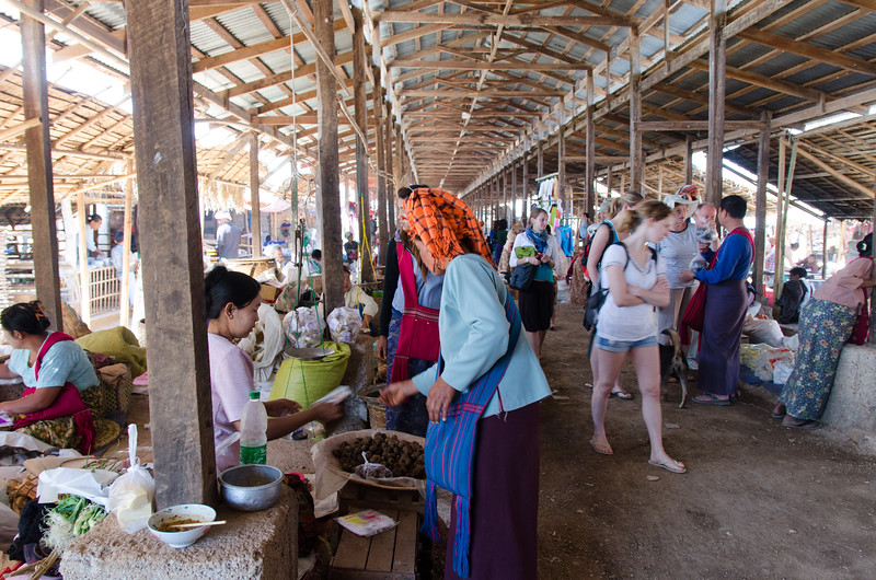 At the Indein Village Market.