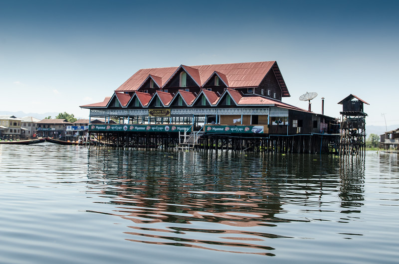 The Golden Kite Restaurant, Inle Lake.