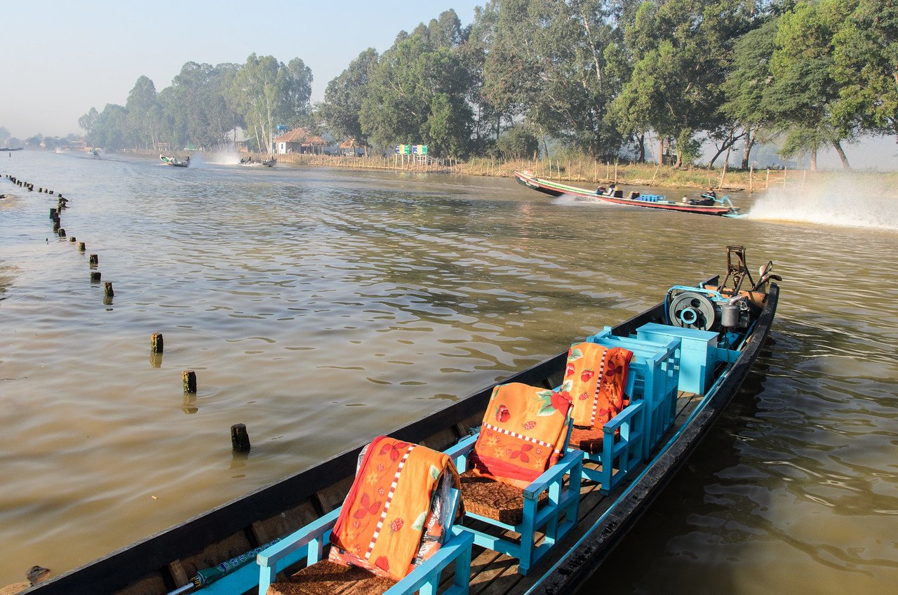 This is our ride for an all-day tour of Inle Lake.