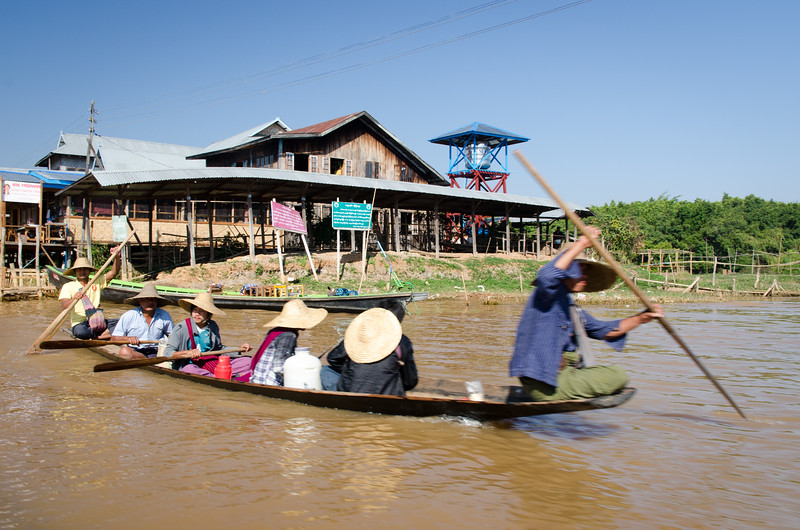 There are many villages like Ywama near Inle Lake.  They are reach via canals and streams.