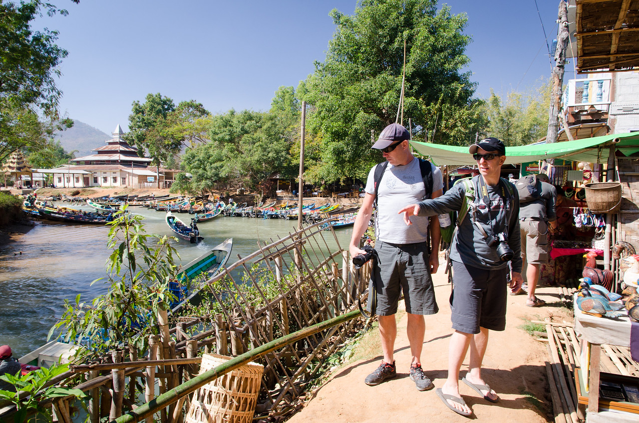 We head out to explore Indein Village and their large market.