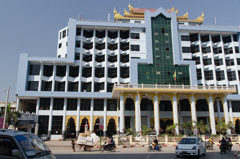 The Mandalay train station.