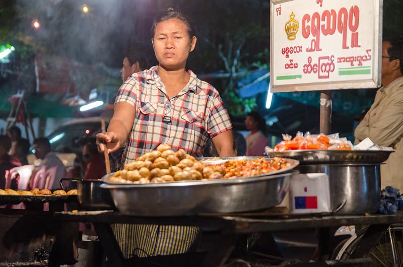 Get your hot Burma Balls!