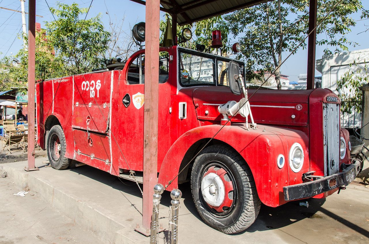 Antique Dennis fire truck.