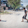 Kids playing in the street, Mandalay.