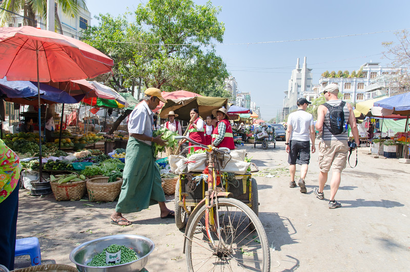 Mandalay is a busy place!  There is a lot of life on the street.