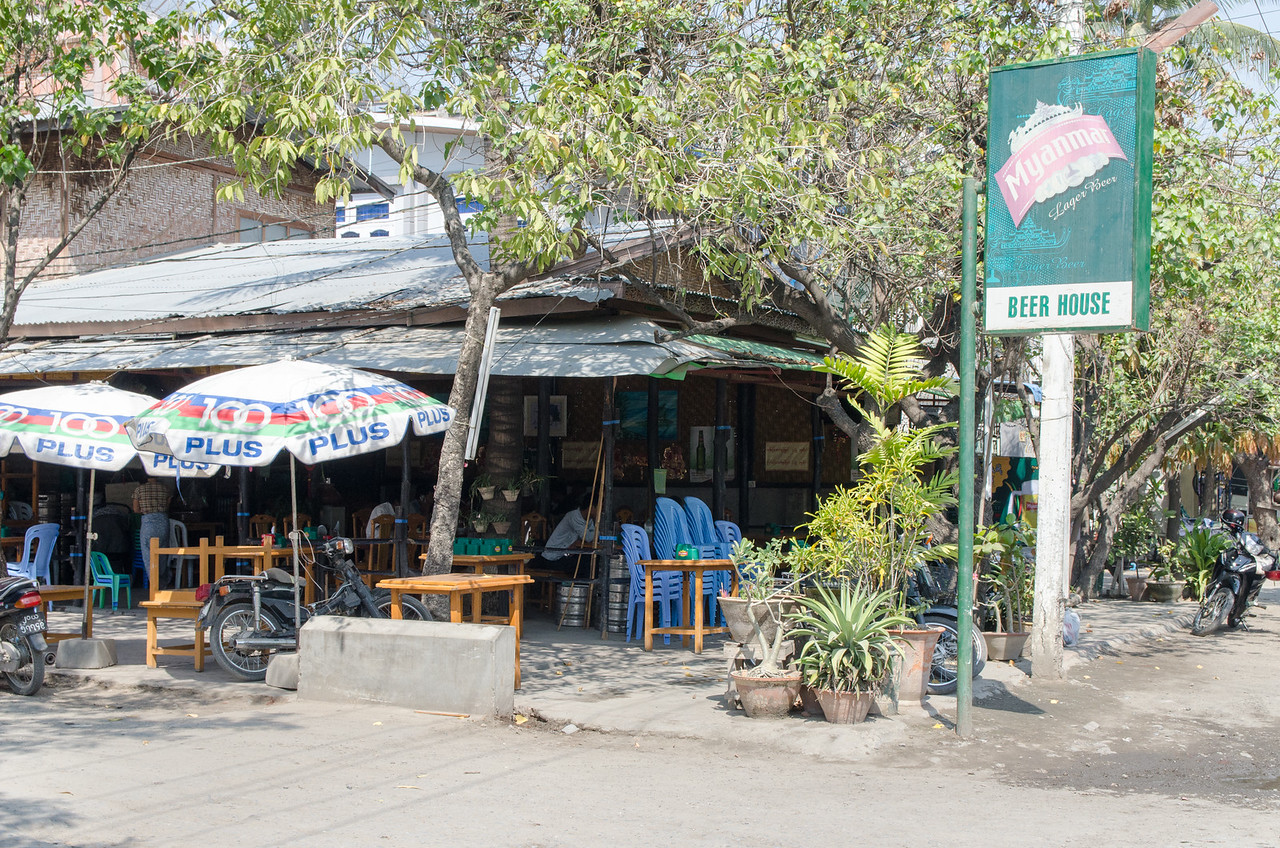 """Beer stations"" are the closest thing to bars in Myanmar.  There's not much nightlife."