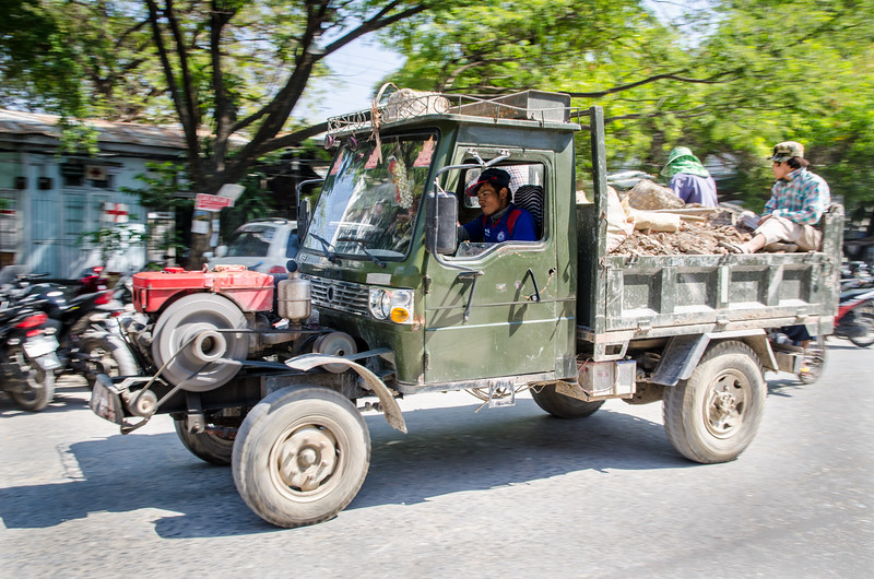 These Chinese-built one cylinder trucks are all over Myanmar.  They are simple and tough.