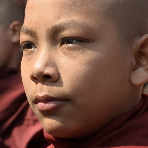 Young monk waiting.
