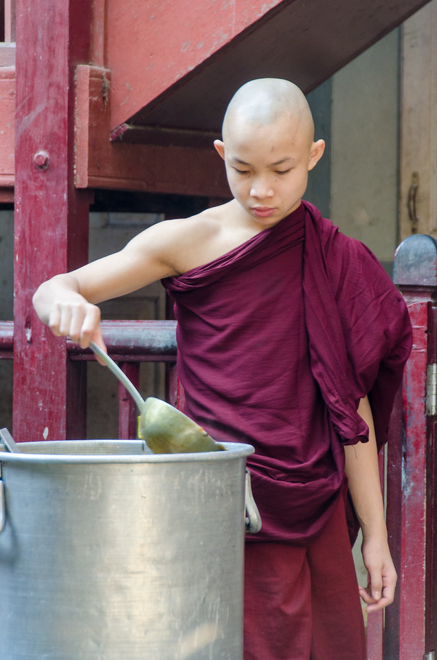Monk serving.