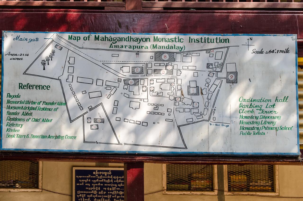 Map of the Mahagandayon Monastery.