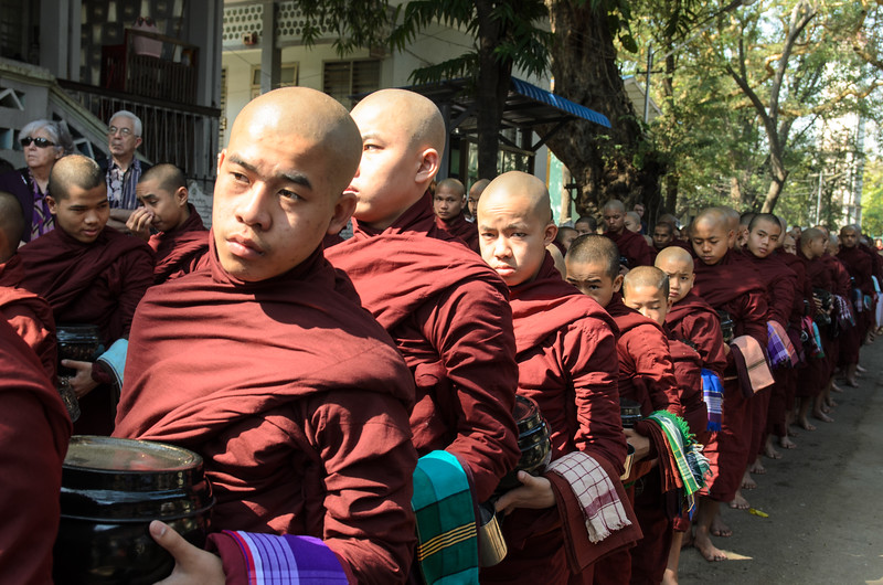 There must be over a thousand monks.