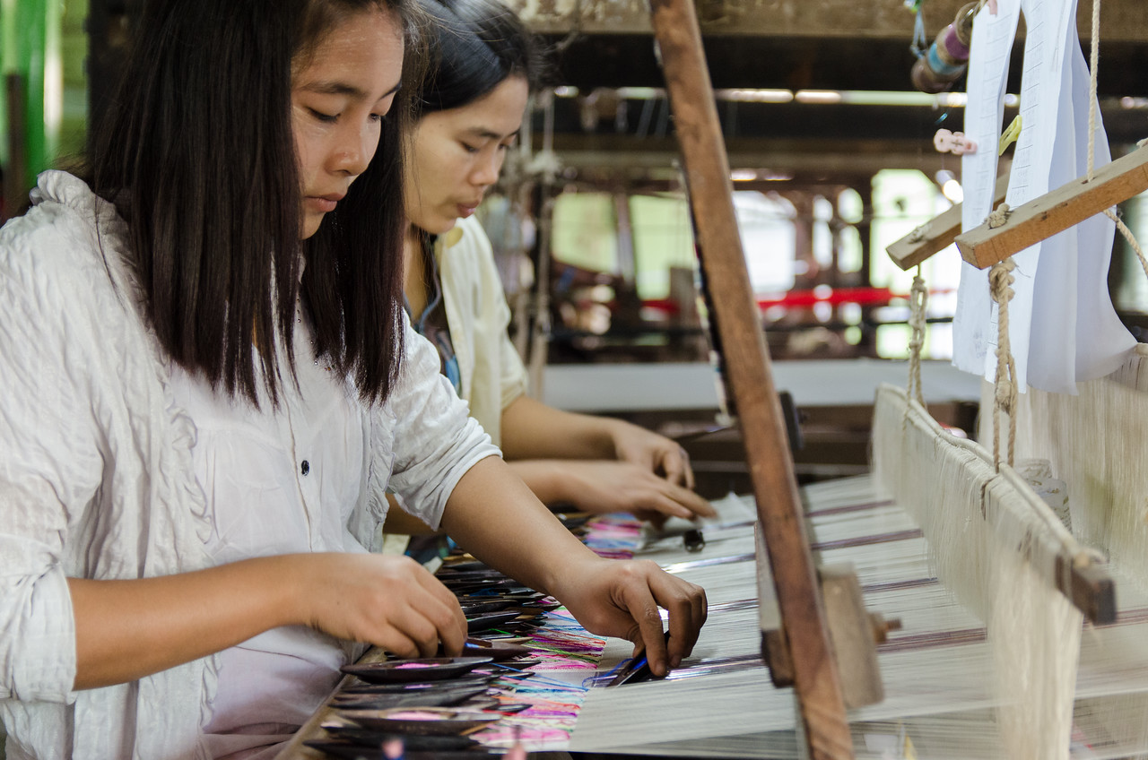 It was fascinating to watch the people work in the silk shop.