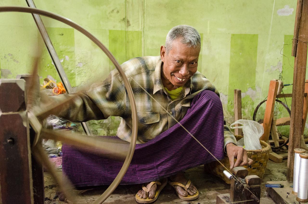 Spinning man.