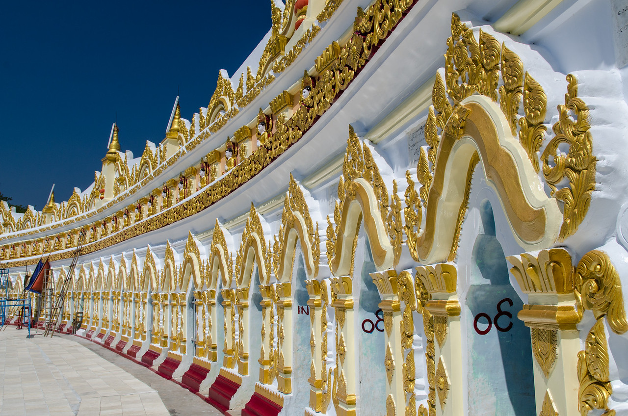The shrine is cut into a cave on Sagaing Hill.