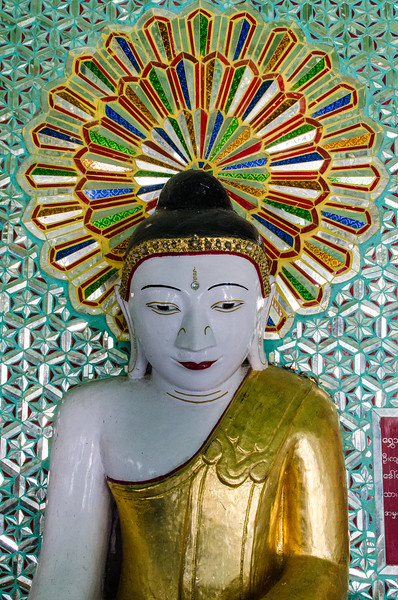 One of the Buddha images at Umin Thounzeh.