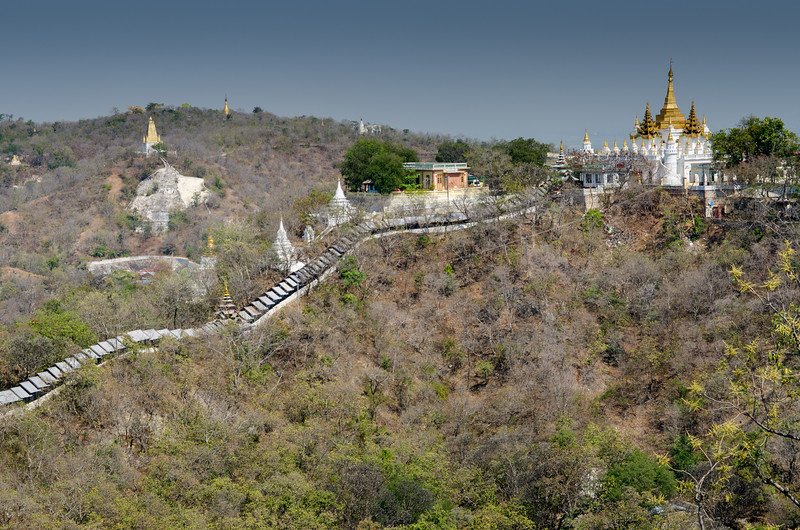 The Soon Oo Ponya Shin Pagoda is located on the top of the Sagaing Hill. It is one of the oldest temples on Sagaing Hill. It was built in 1312 by Minister Pon Nya. Pagoda Festival is held on the fullmoon day of Waso (July).