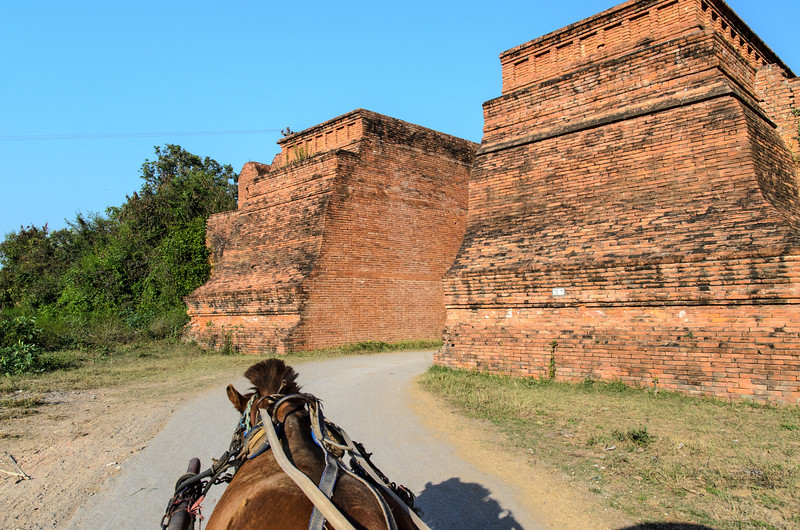 Our horse cart driver takes us through the Inwa West Gate.