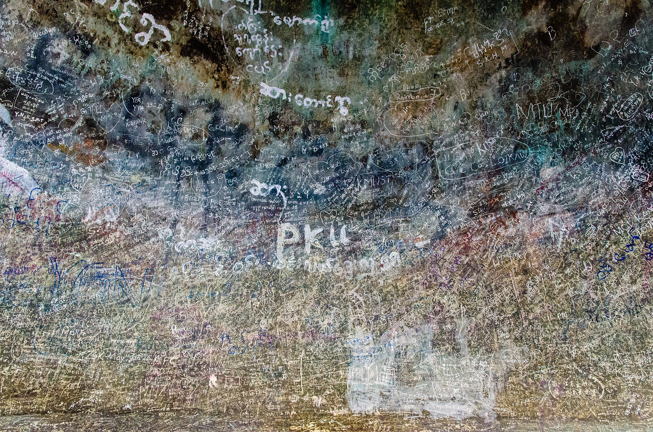 Graffitti inside the Mingun Bell.