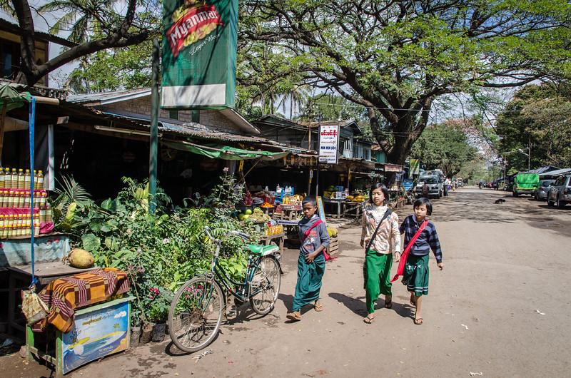 Kids at the market, Popa Village.