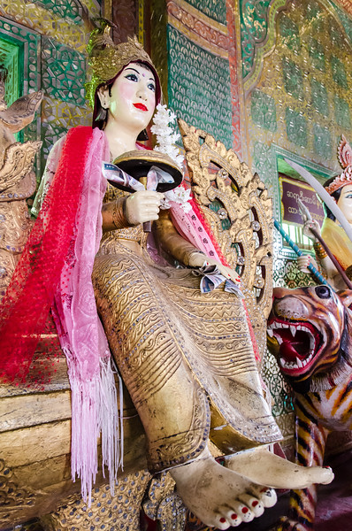 Nat worship is practiced along side and is commingled with buddhism in Myanmar.