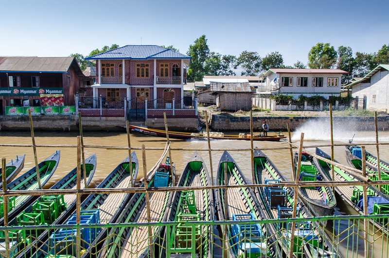 This is the main canal in Nyaungshwe.  Inle Lake is a mile or so south.