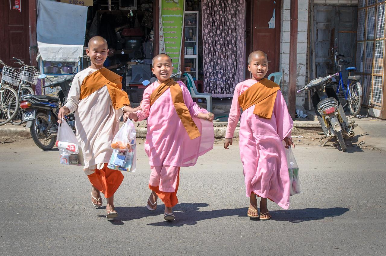 School girls having fun.