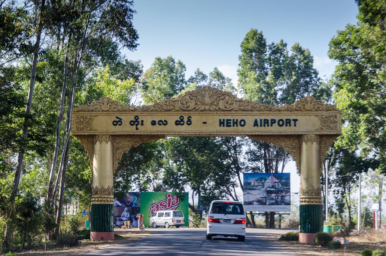 Heho Airport entrance.