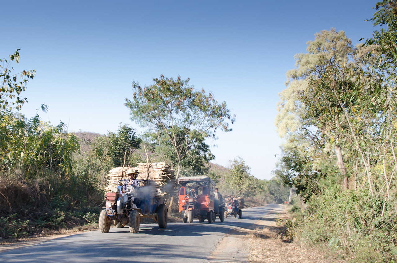 Commerce on the road outside of Nyaungshwe.