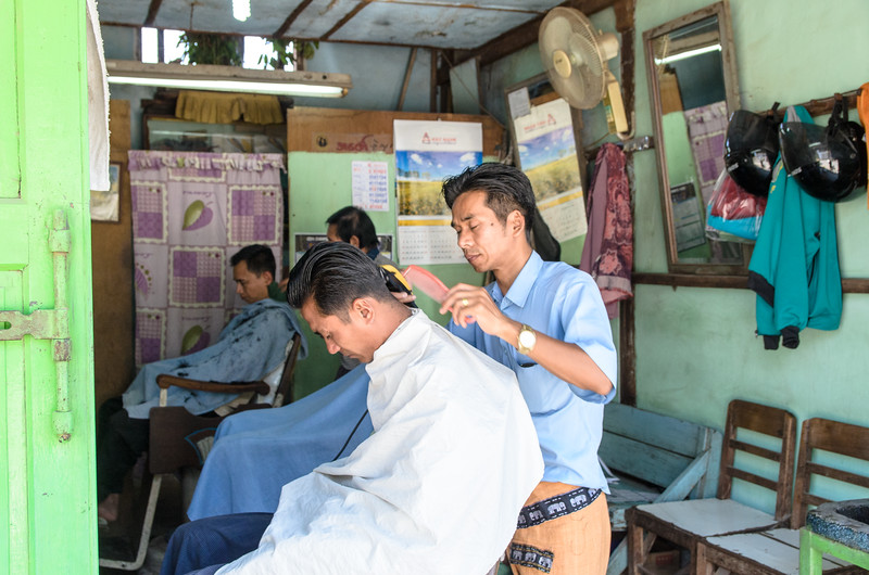 The barber shop!