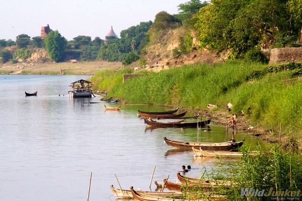 Ayeryawaddy River in Bagan