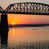Sunset and the Inwa Bridge on the Irrawaddy.