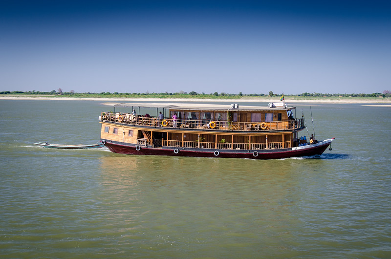 This is one of the smaller Irrawaddy cruise boats.