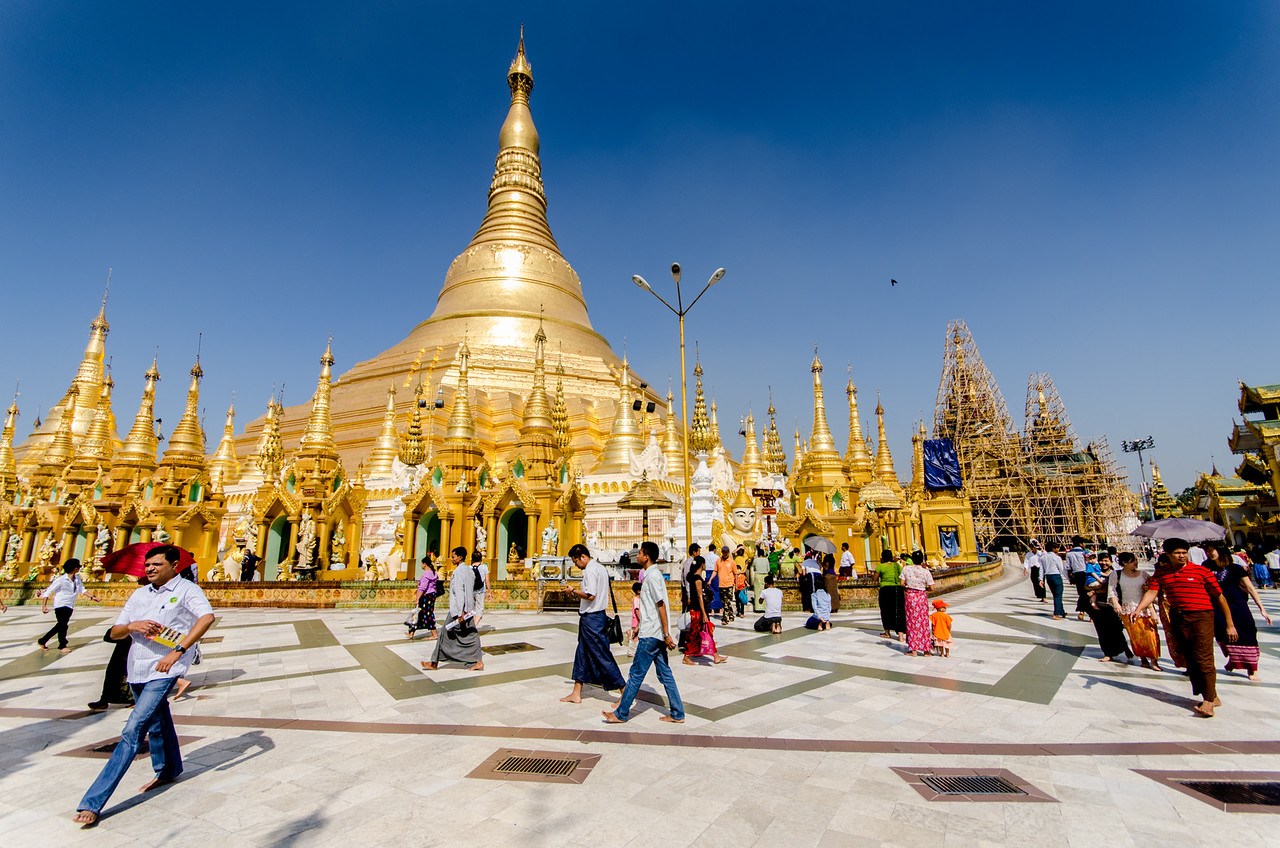 The Schwedagon Pagoda has relics from all four past Buddhas, it is the most important pagoda in Myanmar.