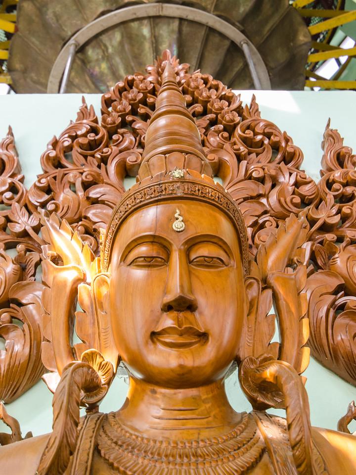 Teak buddha image.