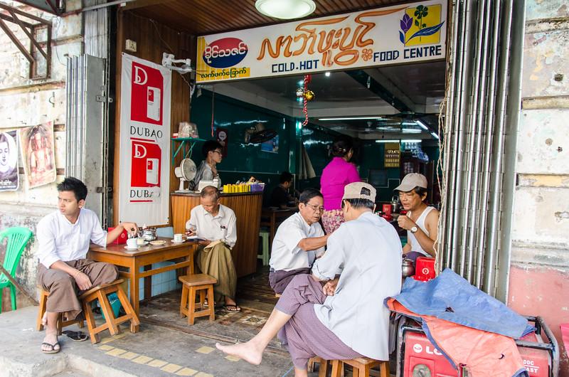 Yangon tea house.