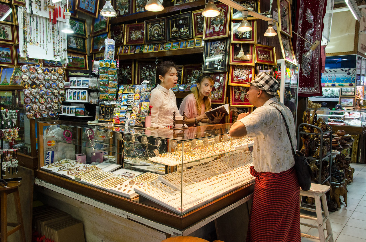 Jewelry seller.