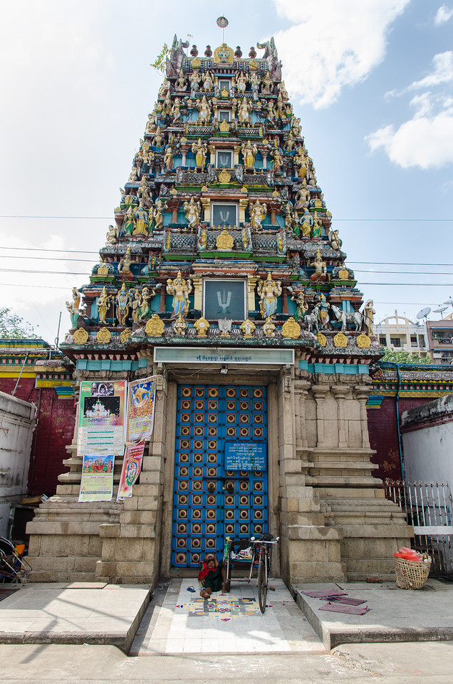 The Sri Devi Hindu temple in Yangon.