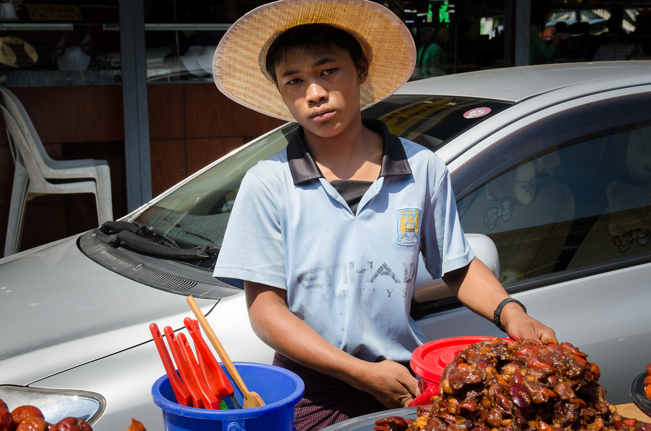 Young fruit vendor.