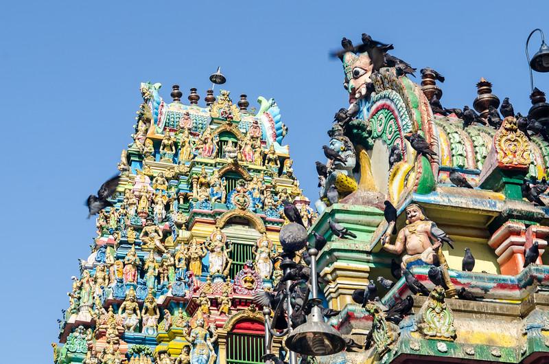 The Sri Kali Hindu Temple.