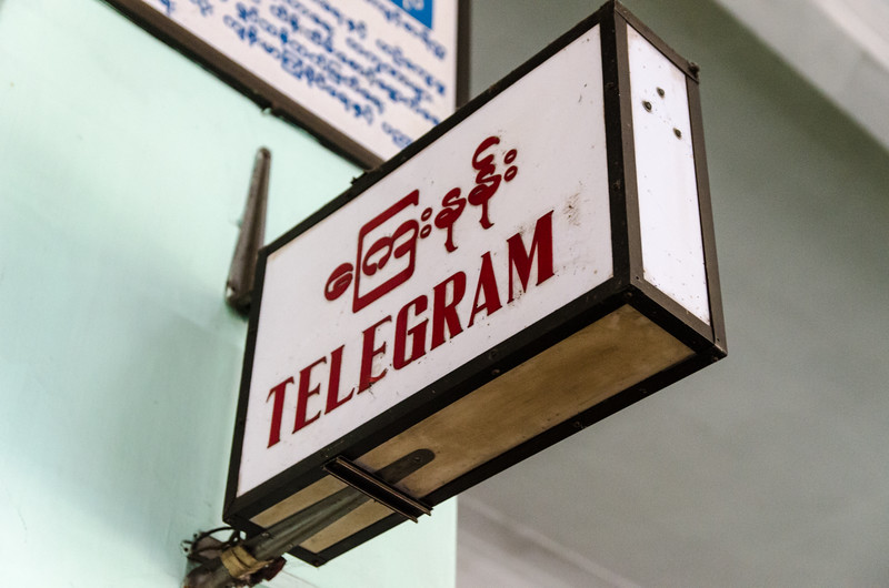 Need to send a telegram, you can still do that in Yangon.