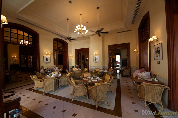 Restaurant at The Strand hotel, Yangon
