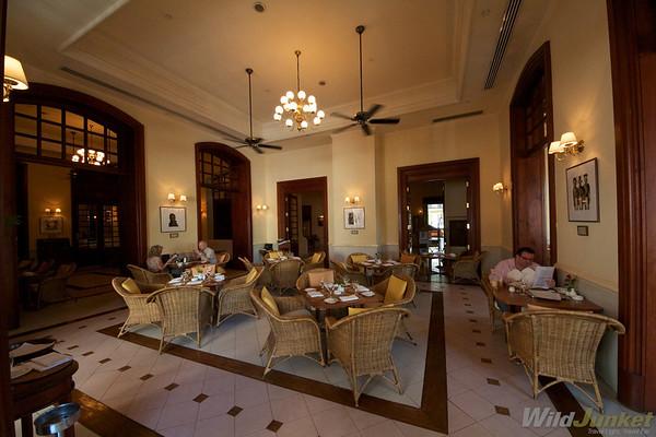 Restaurant at The Strand hotel, Yangon
