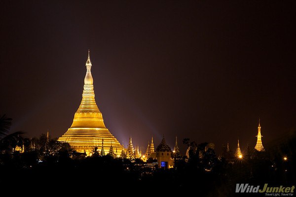 Shwedagon Paya as seen from our hotel