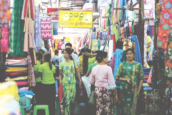 Fabric market. April 2015
